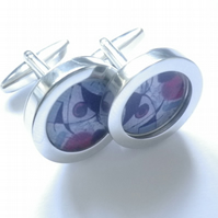 Picasso inspired abstract art cufflinks, vibrant, stylish, lovely special gift.