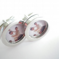 1930sTango dancers cufflinks, a fabulous vibrant image for a joyous occasion.