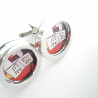 Picasso 3 Musicians cufflinks, elegant, classy, terrific gift , free UK shipping