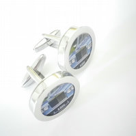 1977 Rolls Royce Silver Shadow cufflinks, swivel action, free UK shipping....