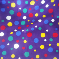 Multicoloured balloon design on cotton cambric, fun and vibrant, price per metre
