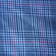 4m grey Prince of Wales wool blend plaid, classy design