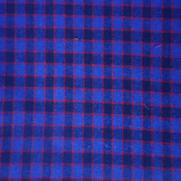 Blue and red check classic design, cotton rich, price per metre