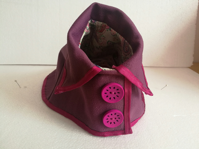 """Pretty in vintage"" small dog coat"