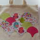 Tote bag with peeping owls gift stocking filler