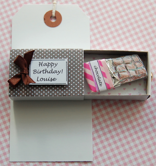 Birthday Card, Valentine Card, Matchbox Greeting, PERSONALISE
