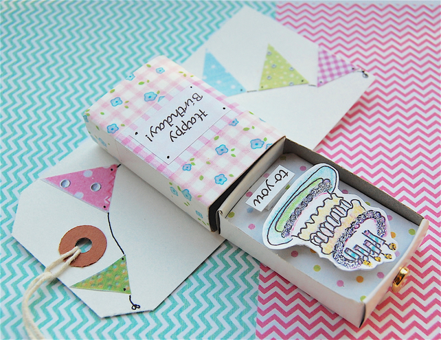 Birthday Card, Matchbox Greeting Keepsake, PERSONALISE