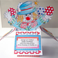 Clown Birthday Card, Pop up Card, Age Birthday Card, PERSONALISE