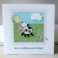Birthday Card, Cow Card, Funny Card