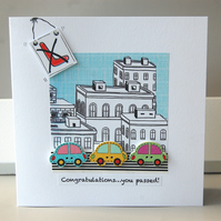 Driving Test Card, Congratulations Card