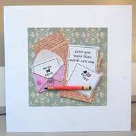 Anniversary Card, Love Card, Valentine Card 'Love you more...' Customise