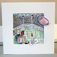 Rugby Card, Rugby Birthday Card, Hand Illustrated
