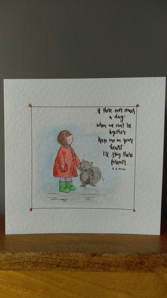 Quotation children's card