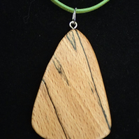Spalted beech pendant.
