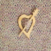 Heart and Arrow Scarf Pin