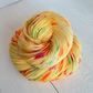 Hand Dyed Yellow Yarn, Sock Yarn 4 Ply, 100g Skein, Banana Split, Merino Nylon