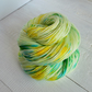 Green Hand Dyed Yarn, 4ply Sock Yarn, 100g Skein, Merino Nylon, Minted Kiss