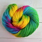 Circus Act, Hand Dyed Yarn, Merino Sock Yarn, 4Ply, Rainbow Yarn, 100g