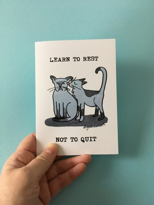 Learn to Rest Not to Quit Card