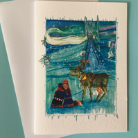Elsa The Snow Queen Frozen Christmas Card