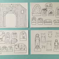 Paper Doll Farm Set PDF PRINT AT HOME