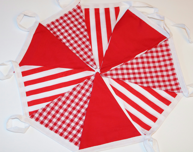 Bright Red Bunting