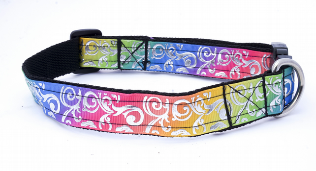 Large Bling Design Handmade Dog Collar