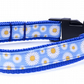 Small Handmade Girl's Daisy Design Handmade Dog Collar