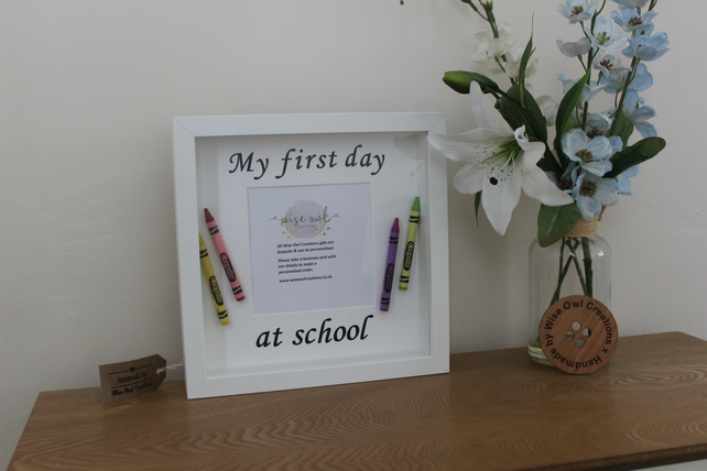 Personalised first day of school , First day Frame, personalised school frame