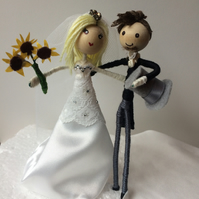 Customised bride and groom cake topper