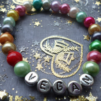 Pretty and colourful vegan bracelet