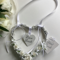 Wedding good luck hanging heart bridal keep sake gift