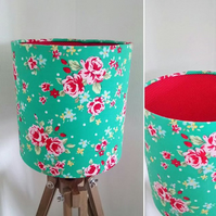 Double Floral and Dotty Lampshade
