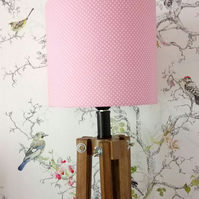 Pink and white Dotty Lampshade 20cm