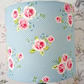 Blue dotty Floral Lampshade 20cm