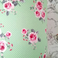 Green Dotty Floral lampshade 20cm