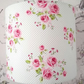 white pink dotty floral lampshade 20cm