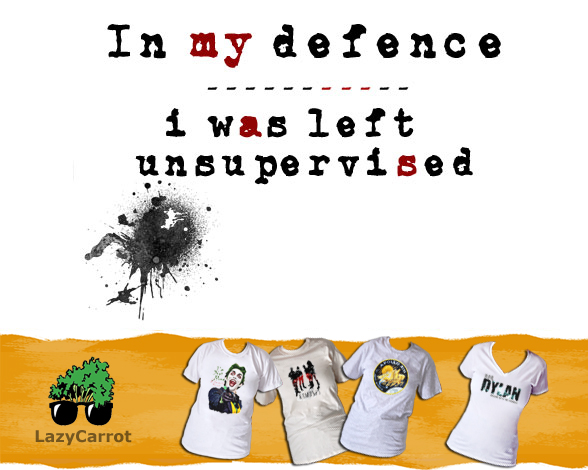 T-Shirt: IN MY DEFENCE... Humorous Tee