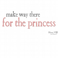 T-Shirt: SHAKESPEARE: Make Way For The Princess