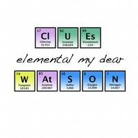 T-Shirt: SHERLOCK HOLMES: Periodic Table of Elements