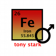 T-Shirt: IRON MAN: Periodic Table Of Elements