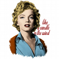 T-Shirt: MARILYN MONROE: Like A Candle In The Wind