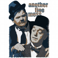 T-Shirt: LAUREL AND HARDY: Another Fine Mess