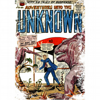 T-Shirt: INTO THE UNKNOWN: Pulp Fiction Comic Cover