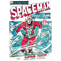 T-Shirt: SPACEMAN: Pulp Fiction Comic Book Cover