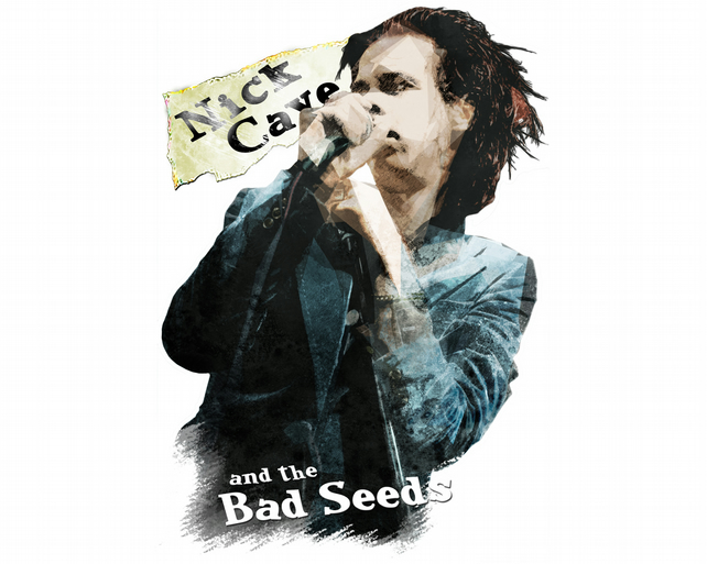 T-Shirt: NICK CAVE: and The Bad Seeds - Rock Music Tee