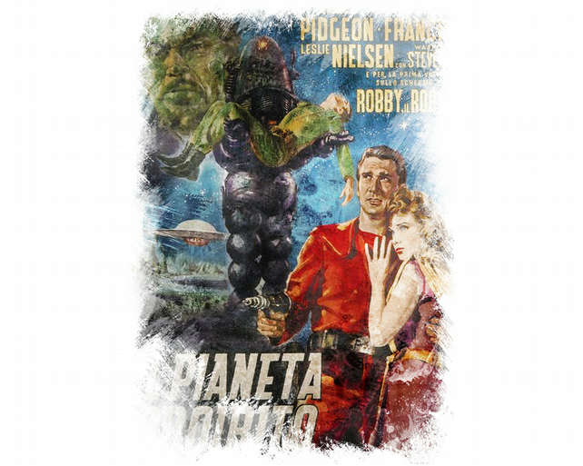 T-Shirt: FORBIDDEN PLANET: Italian Movie Poster
