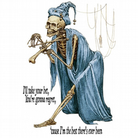 T-Shirt: THE DEVIL WENT DOWN TO GEORGIA - (Skeleton Fiddle Violin)