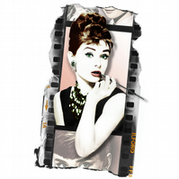 T-Shirt: AUDREY HEPBURN - Silver Screen Film Strip