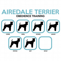 T-Shirt: AIREDALE Obedience Training - All Dog Breeds Available LazyCarrot
